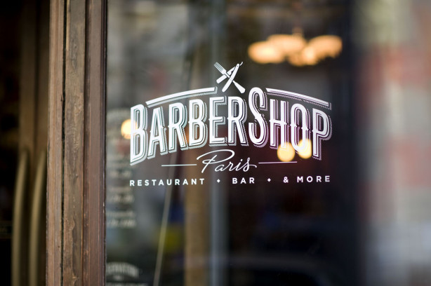 Barber Shop Restaurant Paris Logo