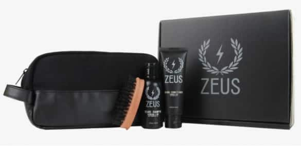 coffret barbe travel kit zeus